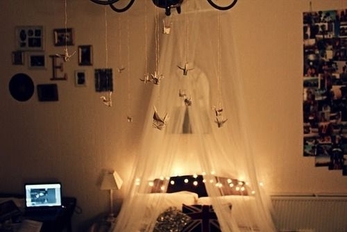 Lit up cozily - makes the room romantic