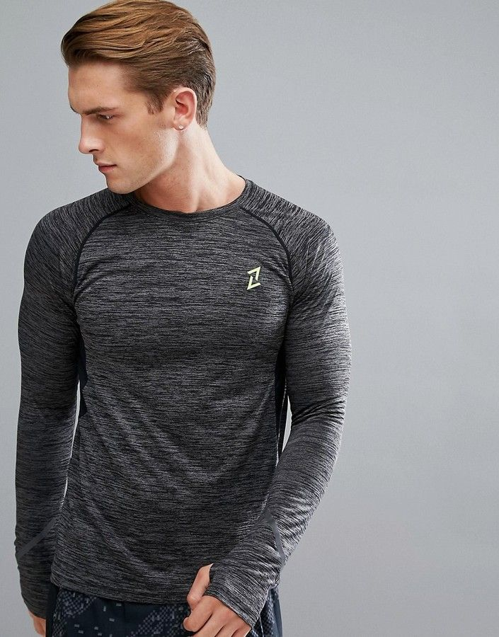 Men's Running Long Sleeve T-Shirt, training shirt, cold weather running, jogging shirt, weightlifting shirt, yoga shirt, barre shirt, breathable, moisture wicking, athletic wear, gym wear, men's fitness, sports wear, health wear, weight loss wear, activewear, Crossfit, affiliate link