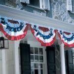 pleated fan flags