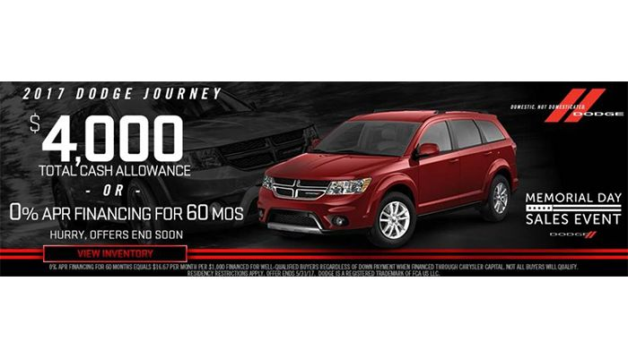 #DealOfTheDay: Get great CASH BACK on the all new 2017 Dodge Journey models! Shop our 'Drive and Discover' Sales Event to experience great pricing on top Dodge models. Click to see our brand new inventory of 2017 #DodgeJourney models and get pre-approved today!!