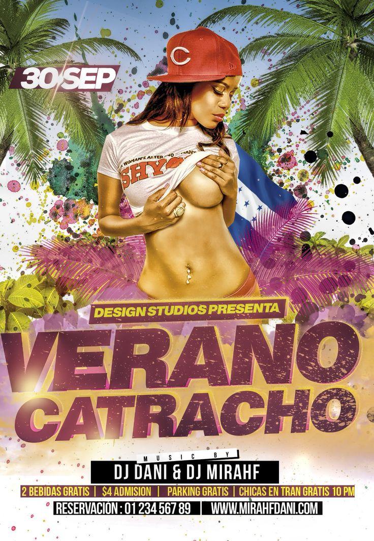 Última a la plantilla de folleto de VeranoVerano Catracho! promociones y otros eventos para su club, bares, cafeterías Basta con añadir su propio texto e imágenes y Listo