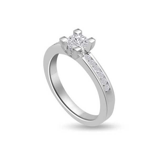 Anello Di Fidanzamento Solitario Composto Con Diamante Infinity Of London Jewellery Anelli Di Moda Anelli Di Fidanzamento Anello Di Fidanzamento Solitario