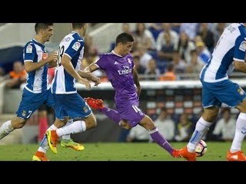 Cristiano Ronaldo: Gol de⚽  James Rodriguez ⚽  Espanyol vs Real Madri...