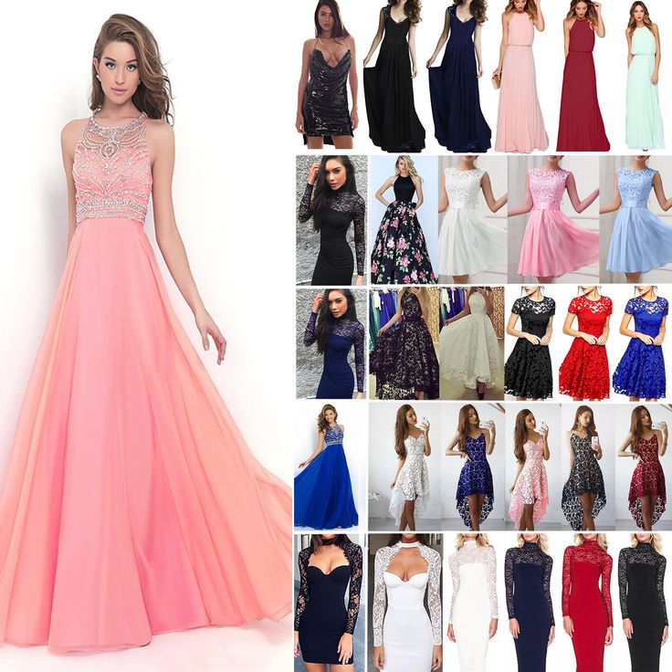 Cool Awesome Women Lace Formal Dress Wedding Evening Ball Gown Party Cocktail Prom Bridesmaid 2017 2018
