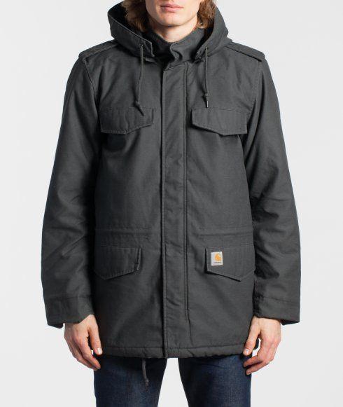 Hickman Coat fra Carthartt, i Asphalt grå størrelse XL. Kan købes i Street Machine i Kronprinsessegade i Kbh K.