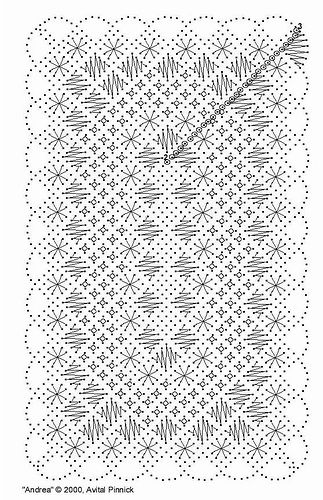 Miniature Bobbin Lace Tablecloth Pattern by Avital Pinnick, via Flickr