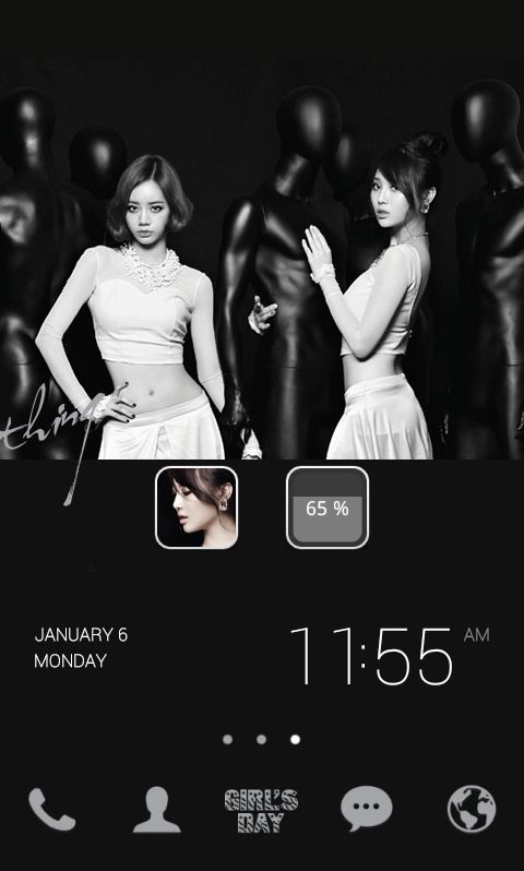 "[New Theme] ""Girls Day Something by Dodol Launcher"" Meet Girl's Day, a  group of 4 sexy and charming girls, on dodol!"