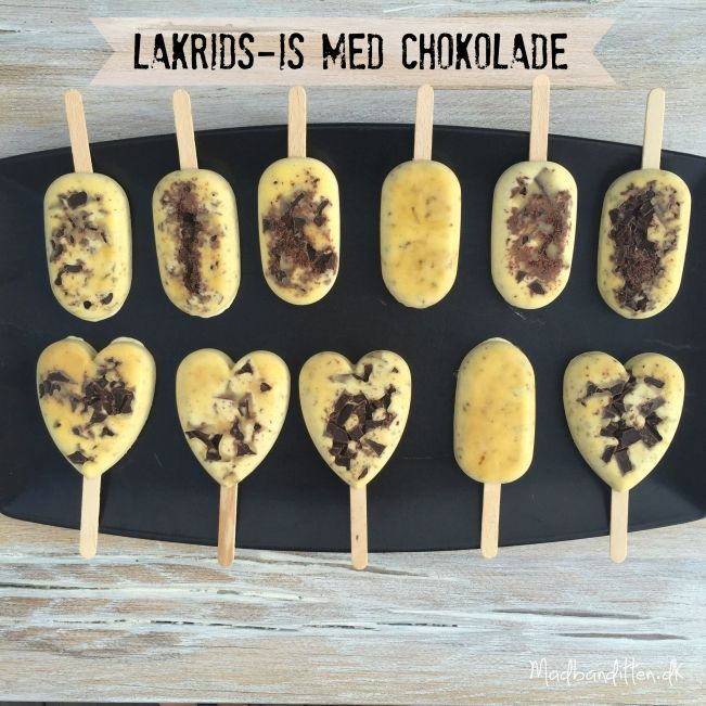 Sukkerfrie lakridsis med chokolade --> madbanditten.dk