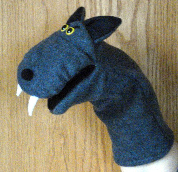 Wolf puppet I bought for El! Just got it in the mail today ...