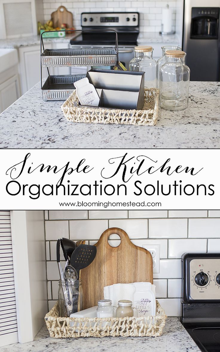 Kitchen Countertop Organization Ideas -Say goodbye to countertop clutter with a few items from @hobbylobby. #HobbyLobbyStyle #ad