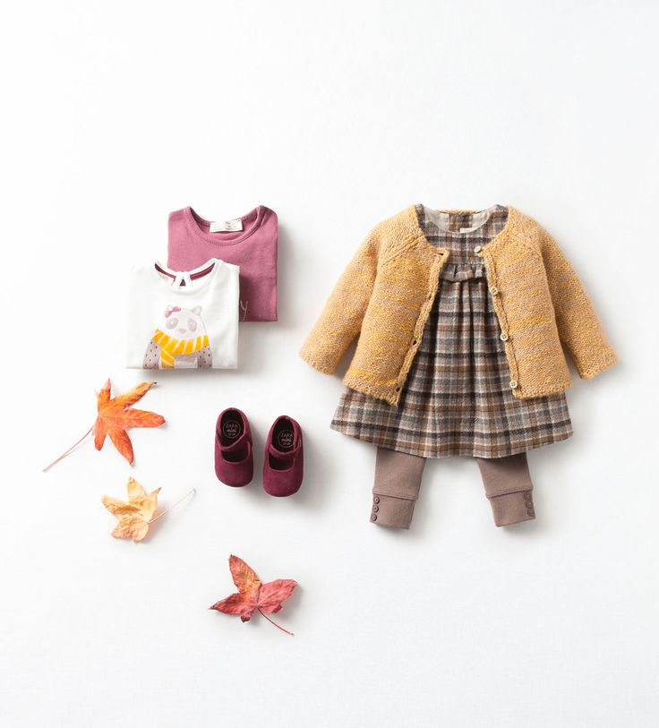 Zara Baby Girls Cardigan with Dress & Leggings Autumn Look