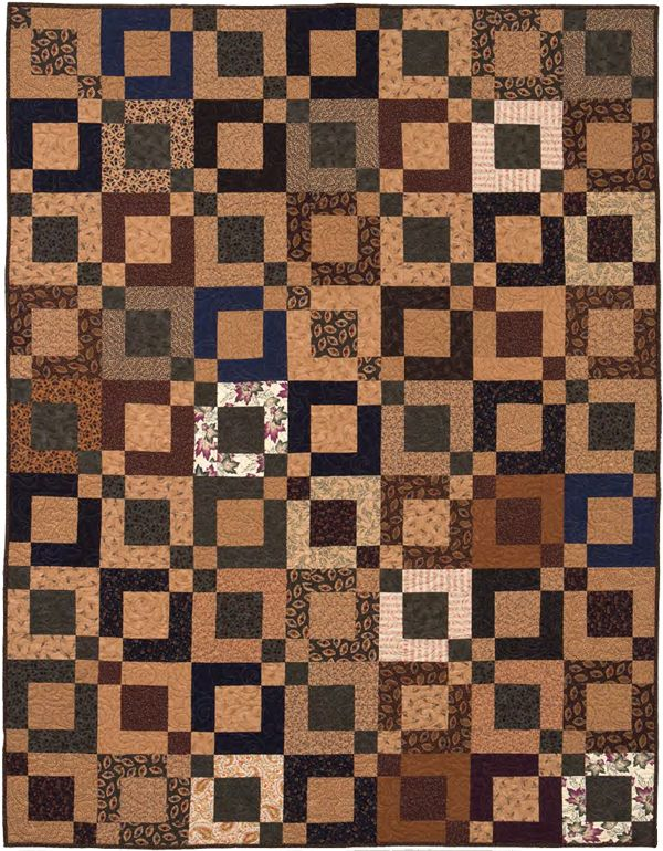 "This ""Boxing Day"" quilt by Nancy J. Martin reminds us of falling leaves, luscious lattes, and good old-fashioned pumpkin pie (and Jelly Rolls!). Download the pattern for free when you sign in or register at our site."