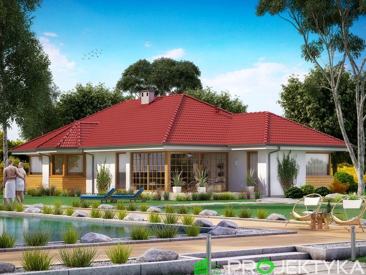 Ka37 - parterowy projekt domu z ogrodem zimowym http://projektyka.pl/pl/projekty/katalog/parterowe
