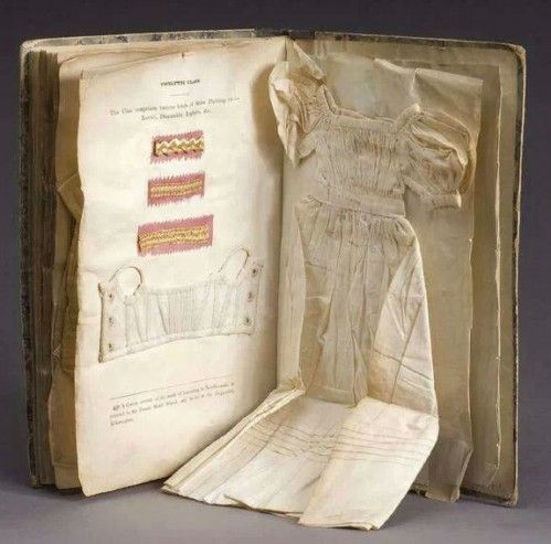 Needlework Instruction Book with real examples, Ireland 1833