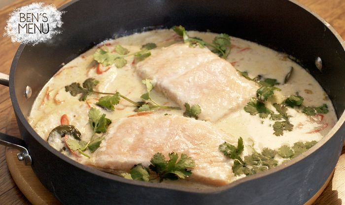 Lynton Tapp's recipe for his Coconut Poached Salmon