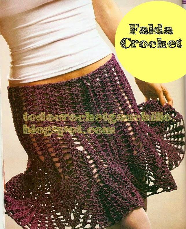 Lujoso Falda Crochet Patrón Libre Inspiración - Manta de Tejer ...