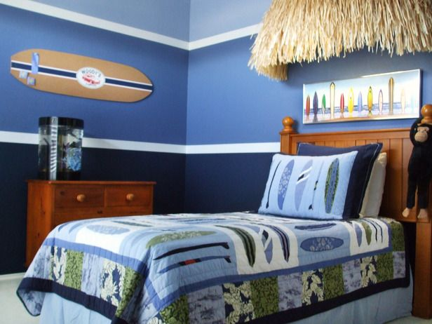 Beach decor ideas for home surf surfer bedroom and boys for Surf decoration