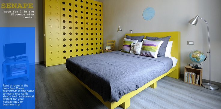 Senape Florence Bedroom in the city center #senapeflorence.com #florence #bedroom #home #b&b #tuscany