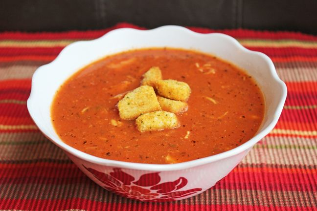 Crock Pot Tomato Basil and Chicken Soup