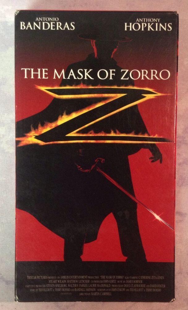 The Mask Of Zorro Vhs Antonio Banderas Anthony Hopkins The Mask Of Zorro Zorro Movie Zorro