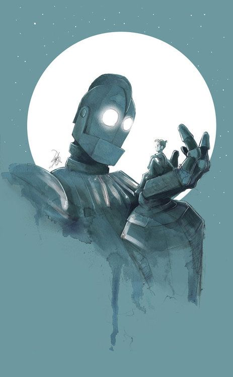 The Iron Giant by ~JohnDevlin  I LOVE this movie. Classic.
