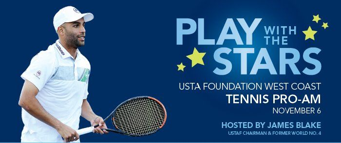 James Blake, USTAF Chairman, hosts Play With The Stars Nov. 6: USTA, Sam Querrey, Coco Vandweghe, Bethanie Mattek-Sands, Steve Johnson, Nicole Gibbs, Mark Philippoussis, Christina McHale,   Taylor Fritz, Pam Shriver ...