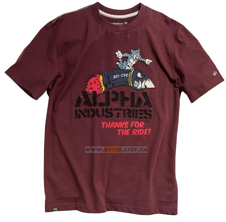 Футболка Tomcat Tee Alpha Industries (Redwood)  Розміри: XS,S,M,L,XL,2XL,3XL,4XL,5XL (під замовлення)  Ціна: 24 $