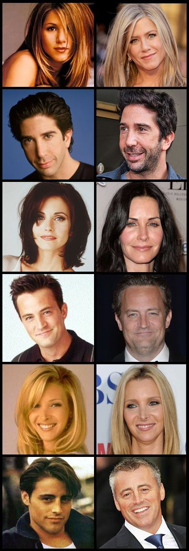Friends main cast  then and now Friends Cast Now