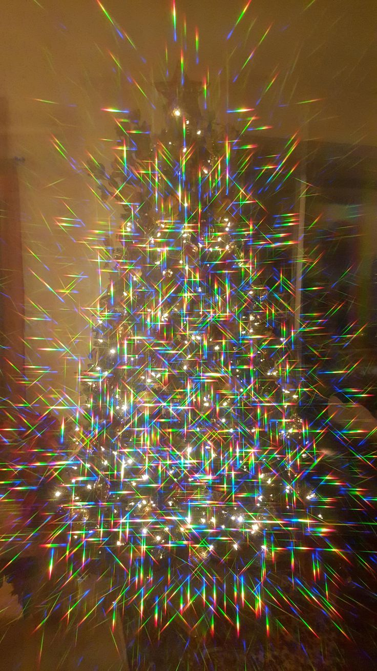 Christmas Tree Through Diffraction Grating Film #tree