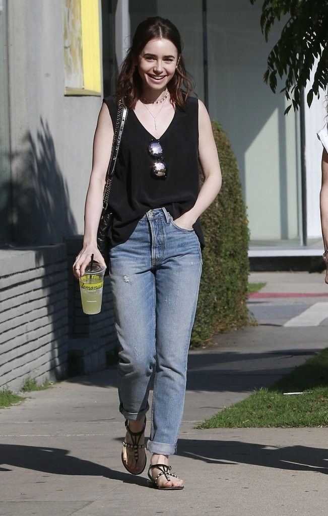 Lily Collins Heads Out With Her Mom in West Hollywood - Pictures