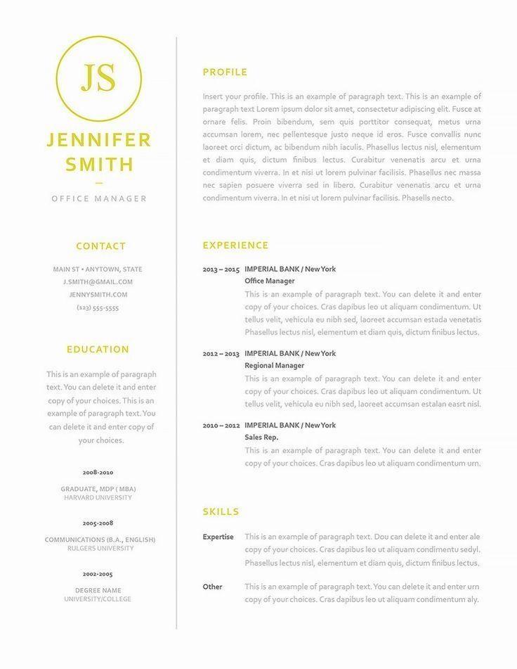 Resume Template 120050 | GRAPHIC TYPO | Good resume examples ...