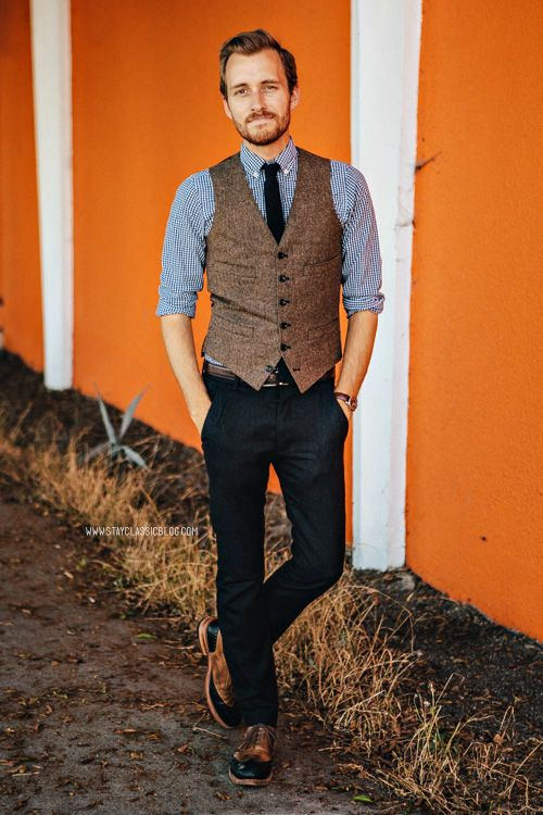October 12, 2013. Wedding. Vest: Ludlow Herringbone Wool - J. Crew - $73.50Shirt: J. Crew Factory - $29Pants: AllSaints Outlet - $85Shoes: C...