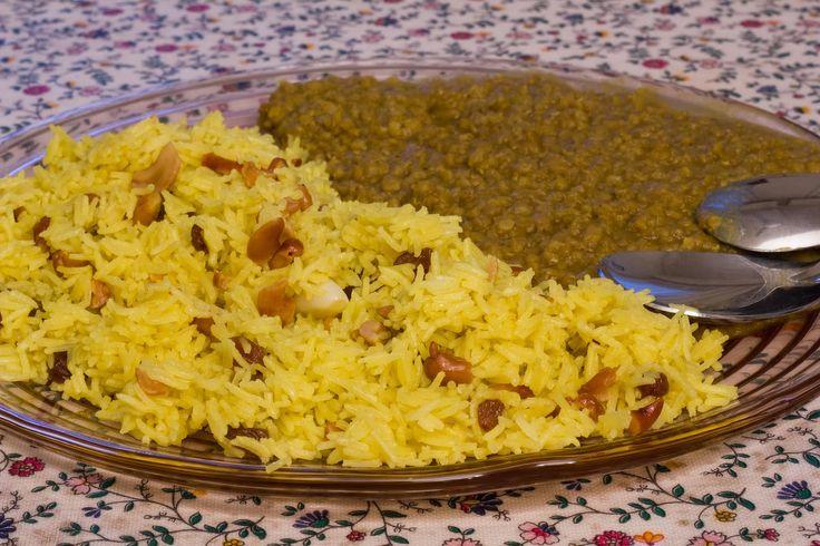 Riso persiano con anacardi, uvetta e lenticchie dal [Cucina etnica]