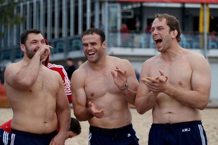 Great laughs...Alex Corbisiero shares a joke with Jamie Roberts and Alun Wyn Jones as the team prepare for their day of destiny in Noosa - British & Irish Lions 2013: The best of the off-field action in Australia #BritishandIrishLions #rugby