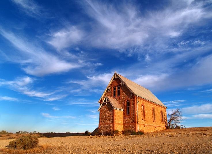 Old church in the ghost town of Silverton near Broken Hill, Australia