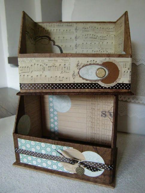 Karteikartenbox aus Graupappe