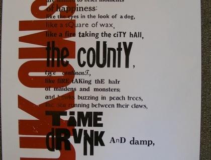Charles Bukowski : PLEASURES OF THE DAMNED : letterpress