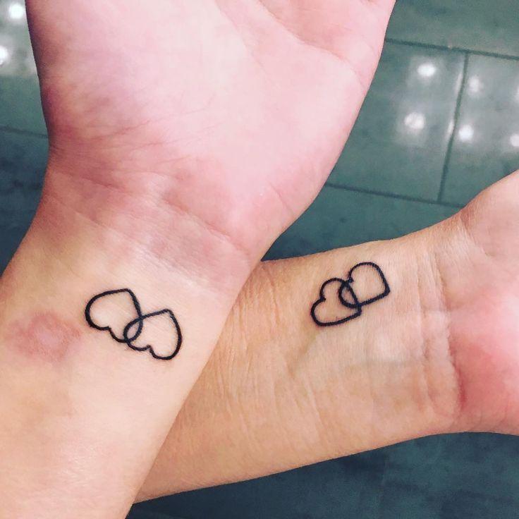 Love Symbole Mother & Daughter Tattoo