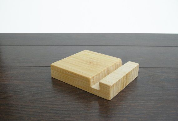 Bamboo iPad stand. iPhone Stand. Bamboo Dock Station. iPad by Magowood