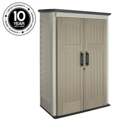 Rubbermaid 4 ft x 2 ft 5 in large vertical storage shed for Sheds and storage units