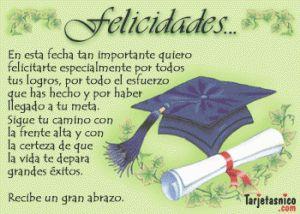 Tarjetas de felicitaciones para graduacin  Tarjetas de Felicitacin