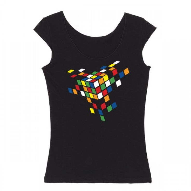 Cubed cap sleeve shirt 3D, game, puzzle, Rubiks Cube, cube, toy, art