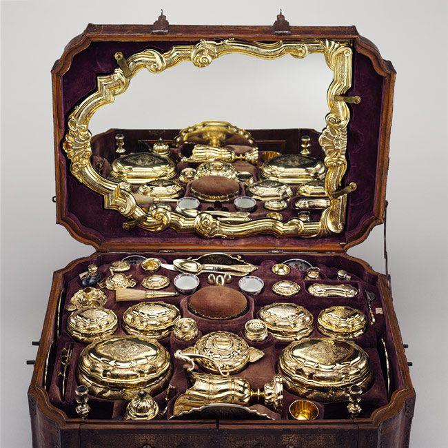 Toilet set in original leather case [Germany (Augsburg)] (2005.364.1-.48)   Heilbrunn Timeline of Art History   The Metropolitan Museum of Art