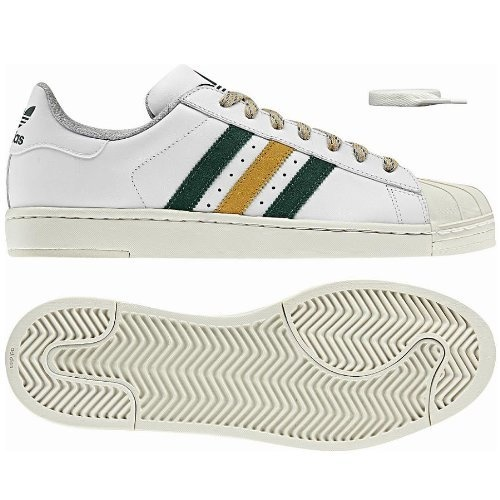 Adidas Superstar 2 LITE Sneaker in weiß/grün/gold