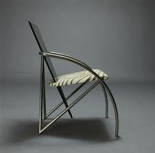 """Dining chair """"Sitting sculpture"""" (Klaus Wettergren) with zebra seat"""