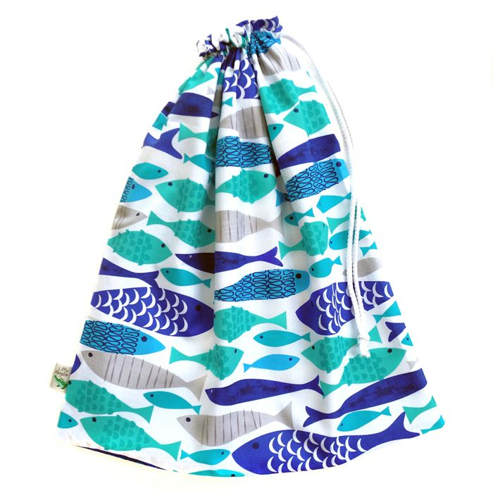 Large Swimming Bag / Waterproof Wet Bag. Pool or Beach Bag. Handmade by Little Alligator.