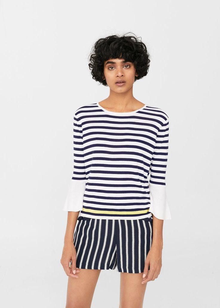 Sweter pasiasty deseń | MANGO