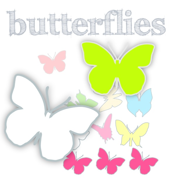 butterfly silhouettes ☀☀☀ free printable for DIY garlands, place cards, wall decoration etc. with ✐✐✐ DIY ideas ✐✐✐!