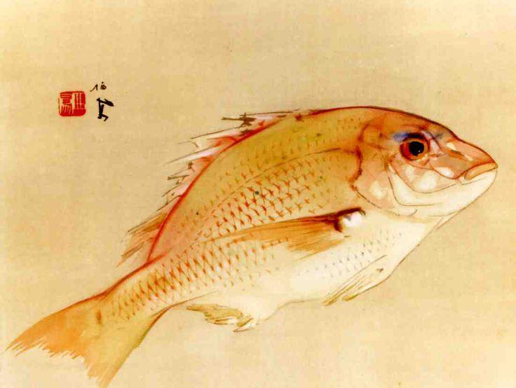竹内栖鳳 Seiho Takeuchi 『海幸』新見美術館蔵