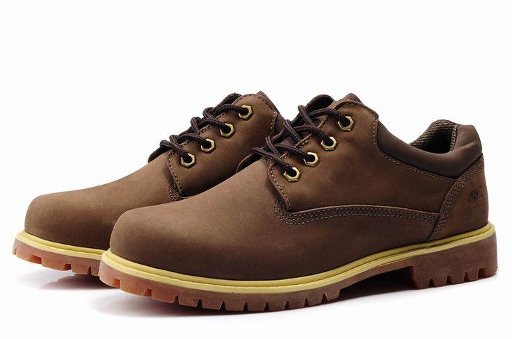 Barato Timberland Hombres Botas - Zapatos Timberland barco clásico Marrón